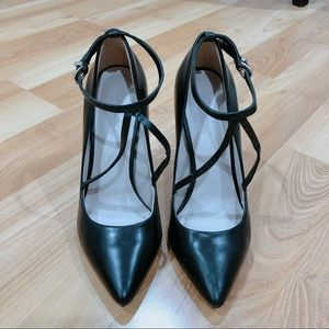 Zara Pointed Toe Pumps with Straps Size 37